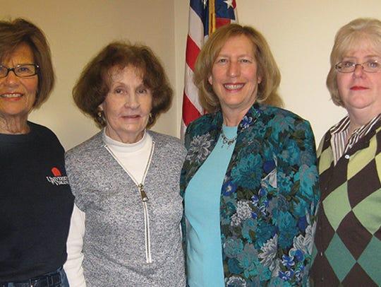 (L-R) Kathleen Sohl, Treasurer, Judith Bretzger, Secretary,