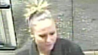 A female suspect in multiple thefts at the Shrewsbury Giant between Oct. 28 and Nov. 3.