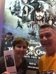 Steve and Michele Tiscareno attend an advance screening