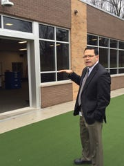 Superintendent Kenji Matsudo gives a tour of the new