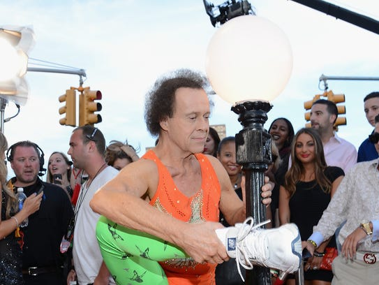 Richard Simmons attends the 2013 MTV Video Music Awards.