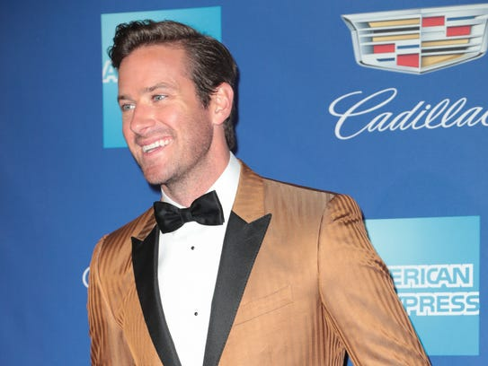 Armie Hammer arrives at the Palm Springs International