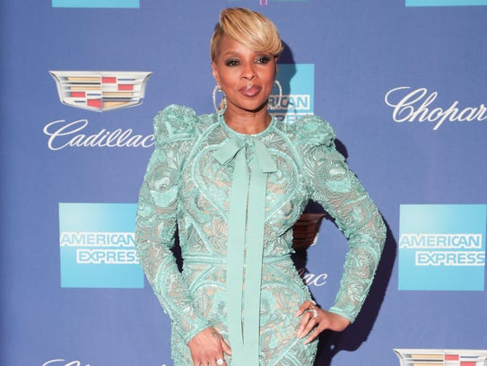 Mary J. Blige arrives at the Palm Springs International