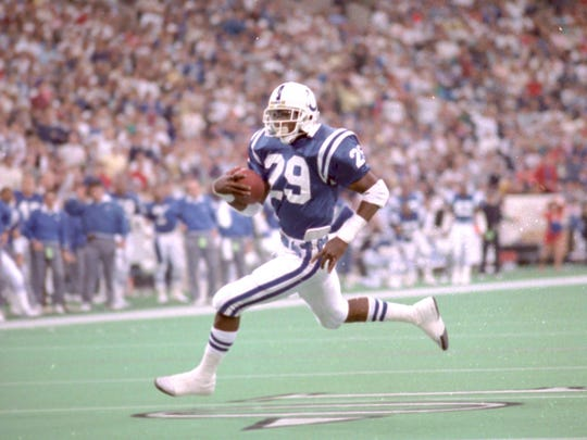 Eric Dickerson was the Indianapolis Colts' first real star after arriving via trade.