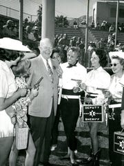 President Dwight Eisenhower surrounded by Desert Circus