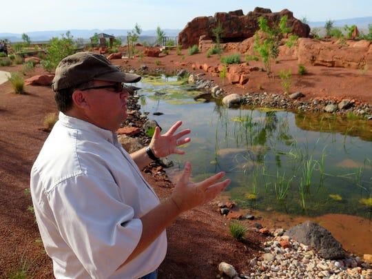 Steve Meismer, local coordinator for the Virgin River Program, talks about the role the newly-opened Red Hills Desert Garden could play in protecting the southern Utah area's endangered fish species. The park officially opened Wednesday along Red Hills Parkway, overlooking the central part of St. George.