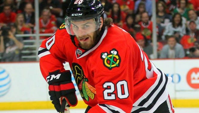 Chicago Blackhawks winger Brandon Saad was dominant on a line with Patrick Kane and Andrew Shaw.