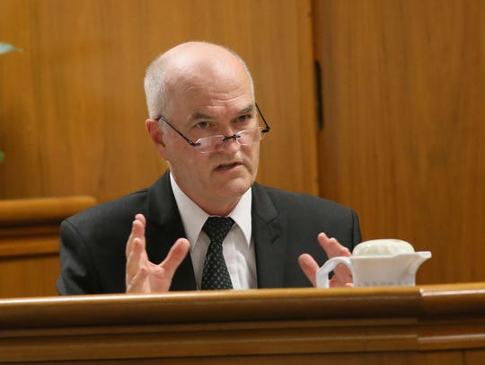Michael Caldwell testifies for the defense on the mental