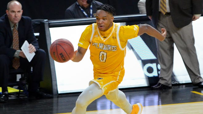 UW-Milwaukeee guard Bryce Barnes, shown earlier in the year, led the Panthers with 13 points Thursday night.