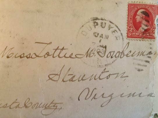 Envelope of last letter written by Dr. Wine to his