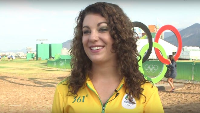 Serena Christianson volunteered in Rio for the Olympics.