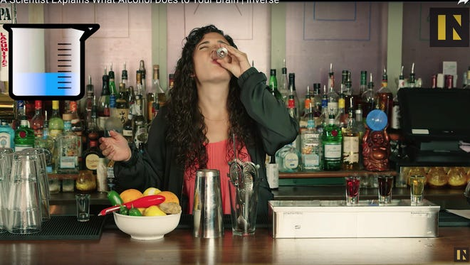 """Byram N.J. native and Ph.D candidate Shannon Odell appears in her viral video """"A Drunk Neuroscientist Explains What Alcohol Does to Your Brain."""""""