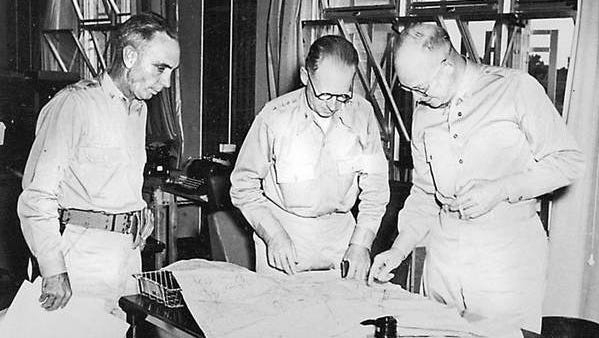 Dwight D. Eisenhower (right) helped lead the  Louisiana Maneuvers prior to World War II when Rapides Parish hosted nearly a half million soldiers training for the war. Eisenhower was promoted from colonel to brigadier general, and later he was elected president.
