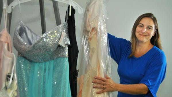 Dawn Kelley, director of Human Resources for the Hilton Cocoa Beach Oceanfront. The hotel  help students in transition or financially struggling, making prom dresses available to them, as well as assistance with hair, shoes and other expenses.