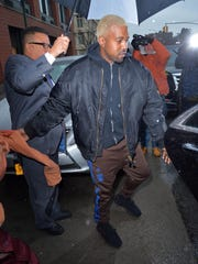 Kanye West was spotted in Manhattan on Feb. 12, 2017,