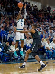 FGCU junior guard Zach Johnson sank 5 of 7 from behind