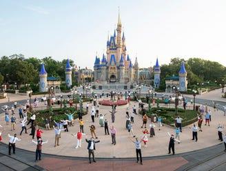 Celebrating the reopening of Walt Disney World.