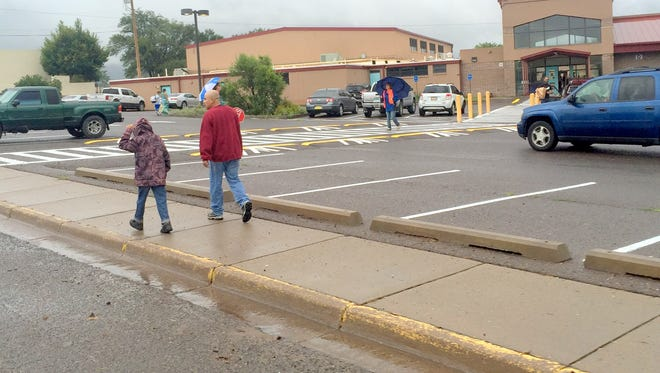 Rain fell during the hours of students, parents and staff had to get to school for the first day in the Silver Consolidated School District.