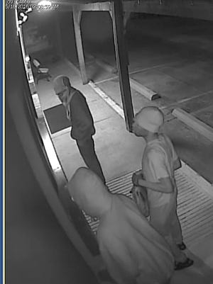 Broussard police are searching for three suspects who broke into a business and stole firearms.
