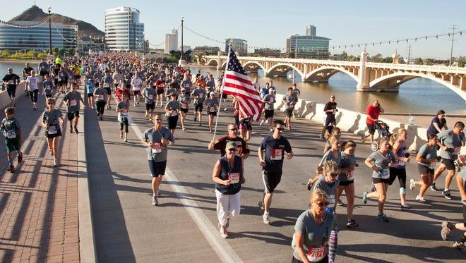 Thousands of runners took part in Pat's Run honoring Pat Tillman on April 20th, 2013.