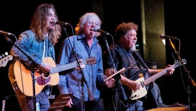 L-R: Robin Zander Jr., Mike Mills and Bill Lloyd perform at City Winery Nashville on October 7, 2016.