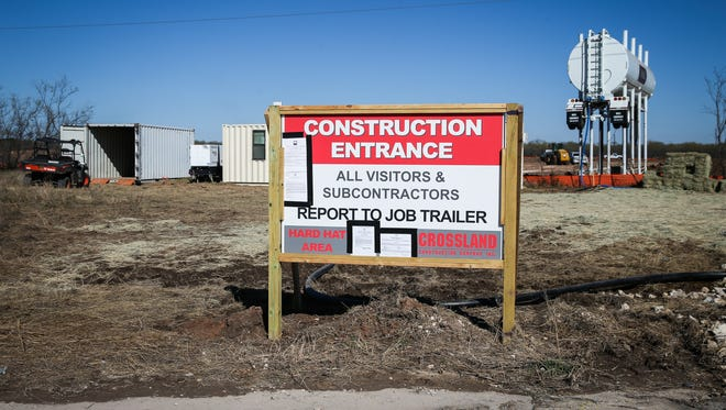 Construction begins for the new AEP facility Friday, Dec. 15, 2017, at the San Angelo Business and Industrial Park.