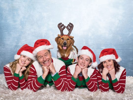 The family Christmas photo in  'Why Him?'