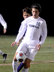 Howell's Ian Manning controls the ball in a 3-0 loss