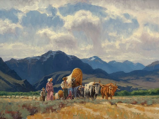 """""""Travelers On the Bozeman Trail"""" painting by Charles Fritz"""