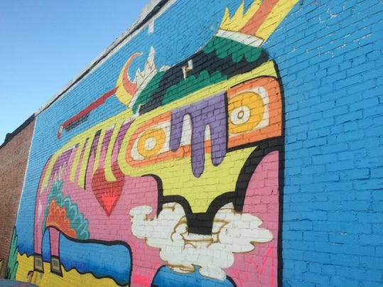 Artists hope downtown mural project explodes for 6 blocks from downtown mural