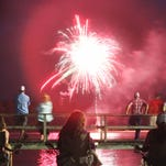 Hundreds gather at Little Black Creek Campground and Park at dark to watch the annual Fourth of July fireworks display Saturday. The park also offered a variety of day-time actives including zip lines, fun jumps, disc golf and swimming.