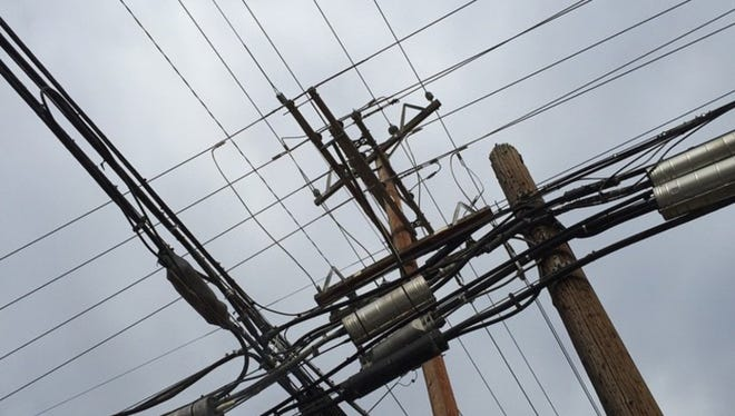 A power pole in Visalia.