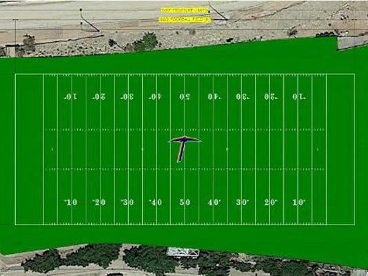 A rendering of the turf on Glory Field at UTEP.