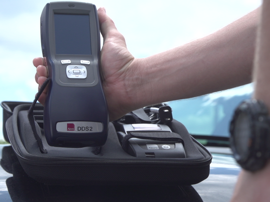 The Michigan State Police is using Abbott's Alere™ DDS® Mobile Forensic Test System to assist drug recognition experts in a roadside drug testing pilot.
