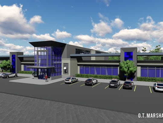 Rendering of Memphis Police traffic division office