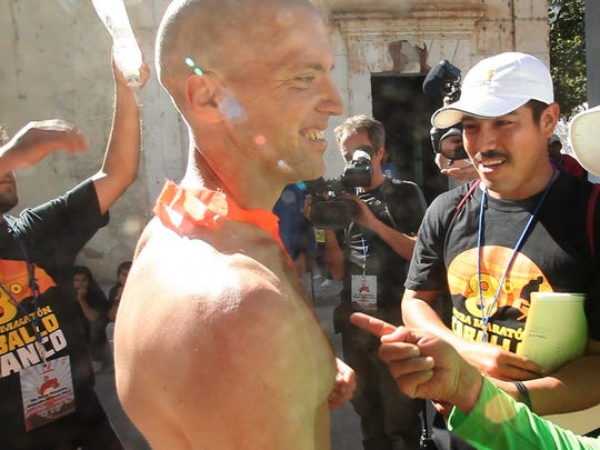 "Will Harlan, of Asheville, won the infamous Copper Canyon 50-mile ultra-marathon in Mexico in 2009. He is the subject of the documentary ""El Chivo,"" by Asheville filmmaker Rod Murphy."