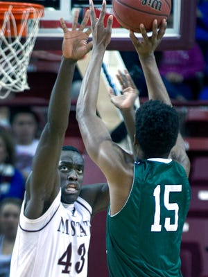 Pascal Siakam and the New Mexico State Aggies are looking for their fifth straight Western Athletic Conference Tournament championship this weekend in Las Vegas, Nev.