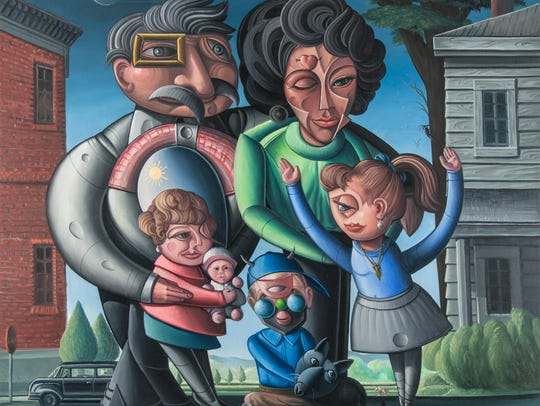 """The Chitty Family of Terrell, Texas,"" a 1989 oil on"