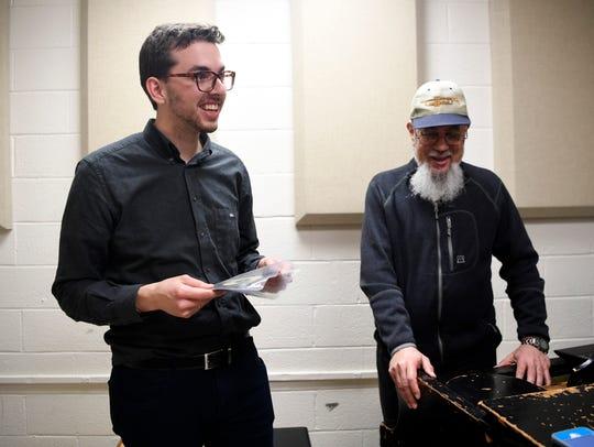 Caleb Rumley, left, who studied jazz under Bridgewater,
