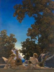 Maxfield Parrish, Interlude, 1922. Oil on linen canvas.