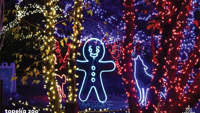 Topeka Zoo's Zoo Lights event, which begins Nov. 27, will feature lighted displays throughout the zoo.