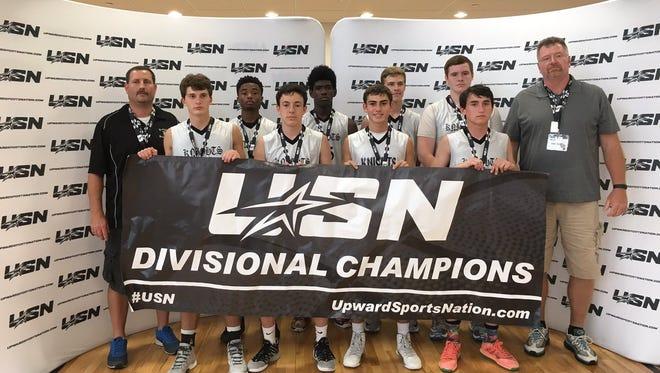 The Kingsport (Tenn.) Knights ninth grade basketball team won the Upward Sports Nation's Battle at Star tournament last weekend in Spartanburg, S.C.