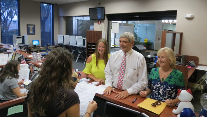 Superintendent Jackie Pons filed for re-election Tuesday.