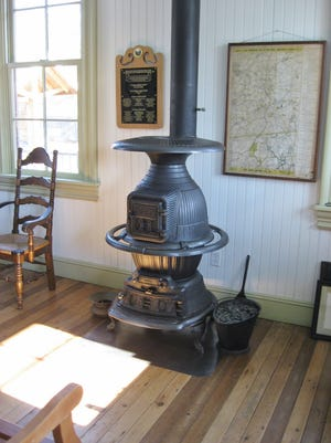"""""""Station Agent No. 24"""" model, which was manufactured by the Union Stove Works, which had a factory in Peekskill, has been refurbished and is now part of the Hopewell Depot."""