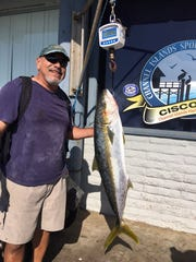 Joe Hernandez from Ventura caught a 27-pound yellowtail aboard the Erna B.