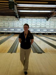 Algonac High School bowler Shelby Kapanowski.