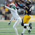 Southern Miss receiver D.J. Thompson finished with 22 catches last season.