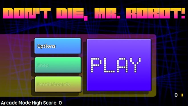 "Frantic, fun and intuitive ""Don't Die, Mr. Robot!"" engages with subtle humor, intuitive controls and the sort of arcade magic that kept us glued to screens for years. Available for around $2.00 on most mobile devices (iOS version reviewed.)"