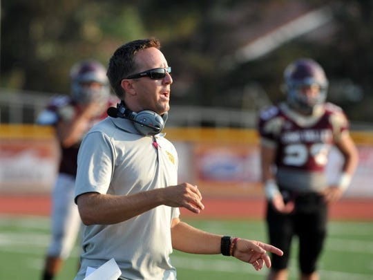 JOSEPH A. GARCIA/THE STAR Simi Valley's Ryan Taggart is the only returning head coach in the Canyon League.