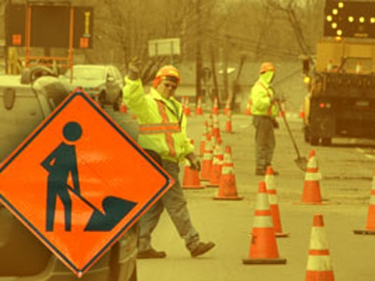 Web Graphic Road Work